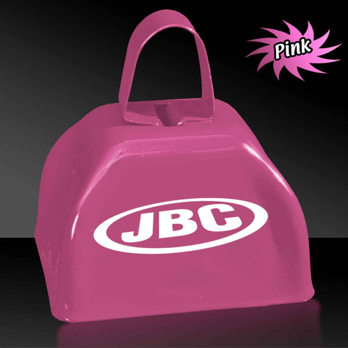 3 INCHES PINK METAL COWBELL