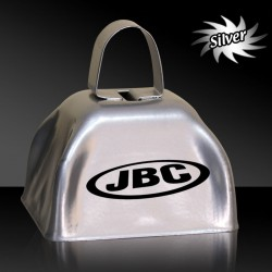 3 INCHES SILVER METAL COWBELL