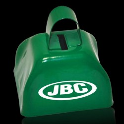 3 INCHES GREEN METAL COWBELL