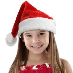 CHILD'S PLUSH SANTA HAT