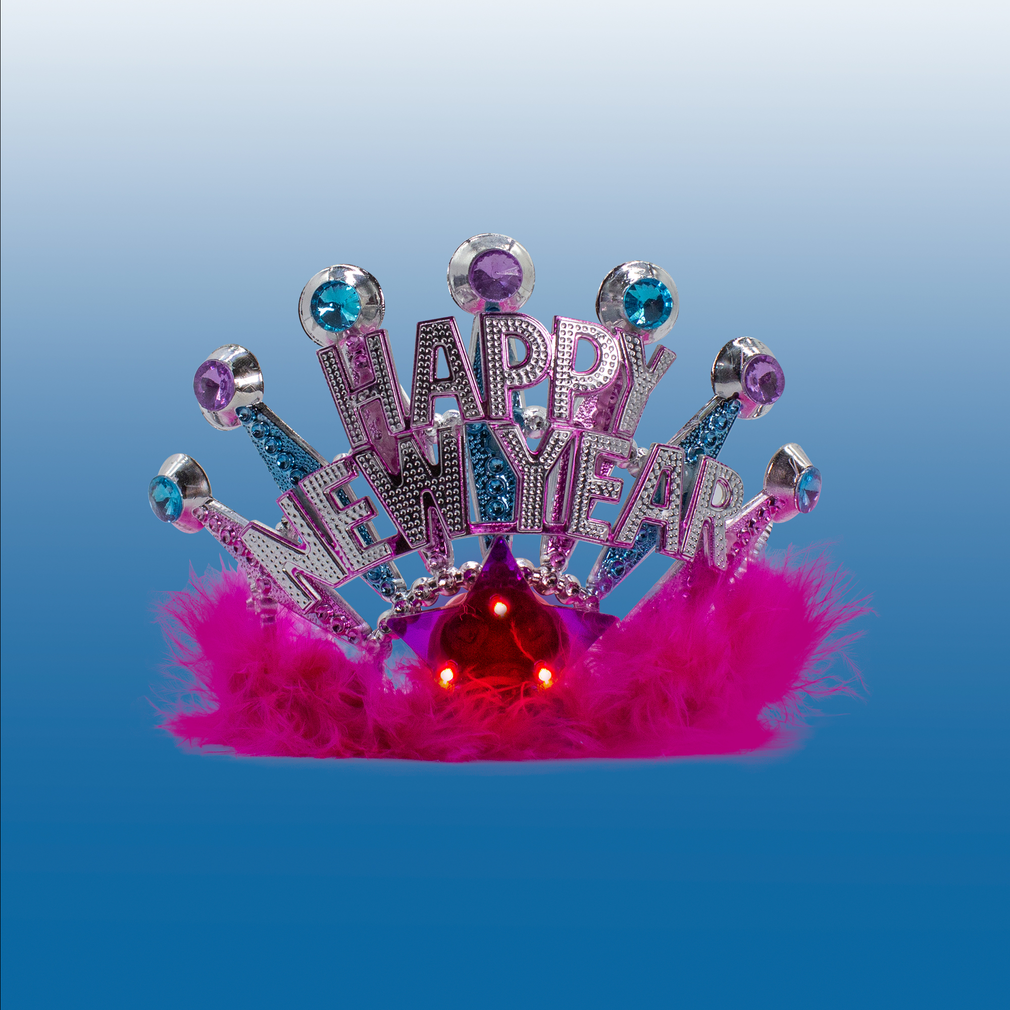 Fun Central C582 LED Light Up Happy New Year Tiara
