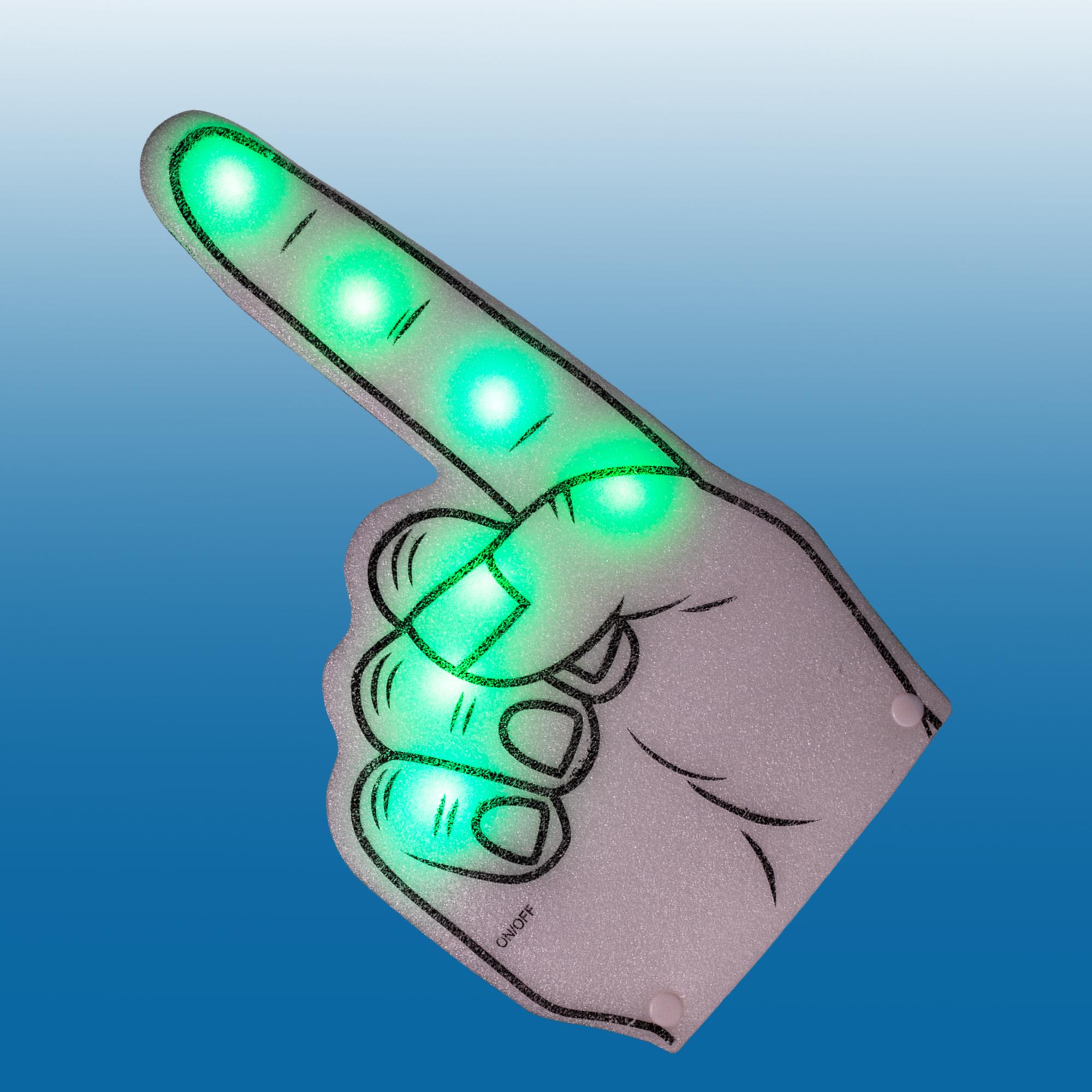 Fun Central AI630 LED Light Up Foam Finger - Green
