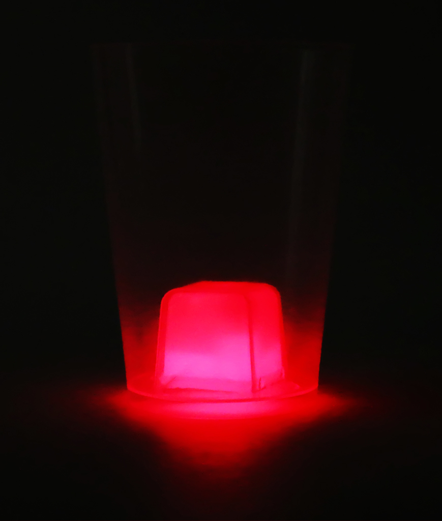 Fun Central BC700 Glow in the Dark Cube Cup - Red
