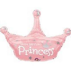 Happy Birthday Princess Crown Balloon