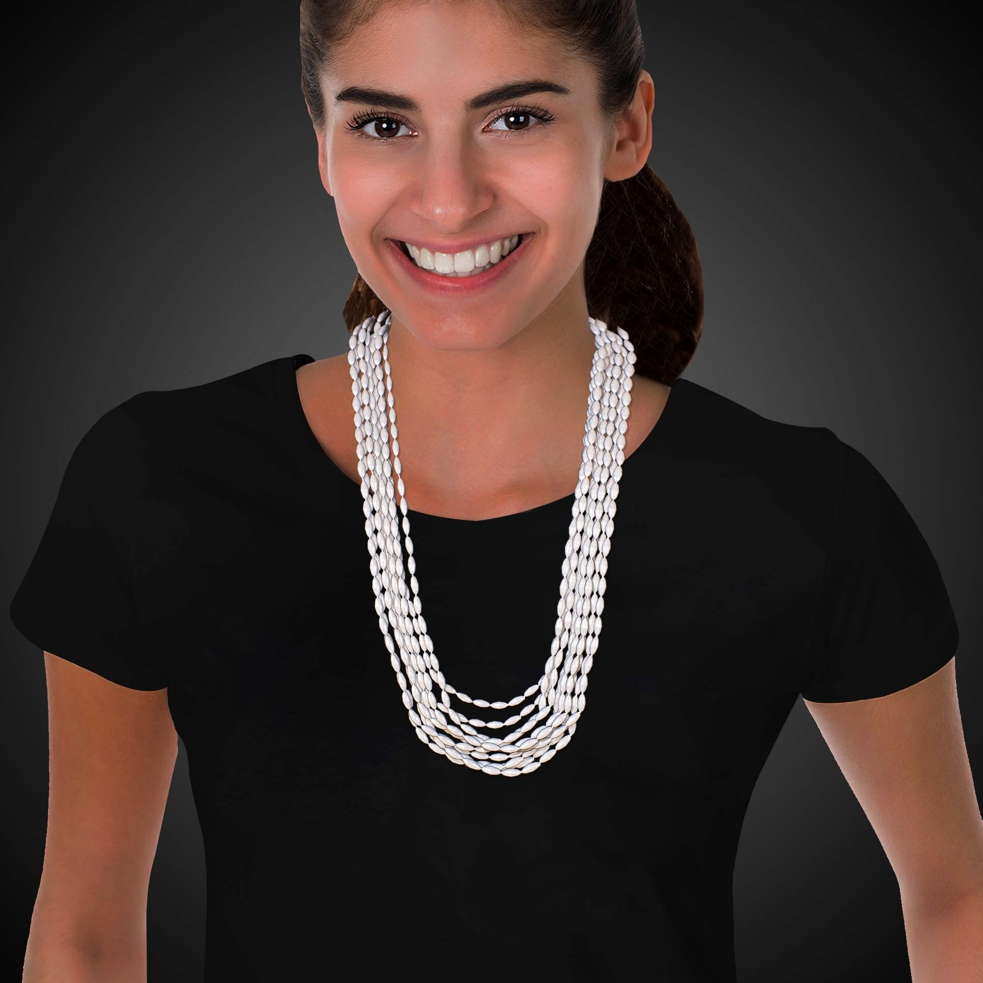 33 INCH WHITE BEAD NECKLACES