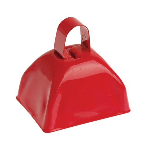 School Spirit Metal Cowbells Red