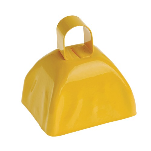 School Spirit Metal Cowbells Yellow