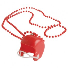 Red Bead Necklaces With Football Helmets