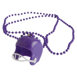 Purple Bead Necklaces With Football Helmets