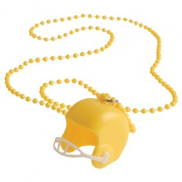 Yellow Bead Necklaces With Football Helmets