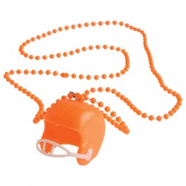 Orange Bead Necklaces With Football Helmets