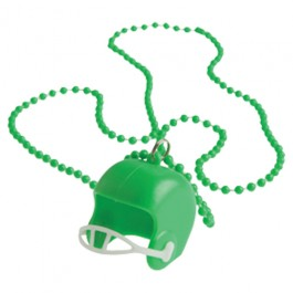 Green Bead Necklaces With Football Helmets
