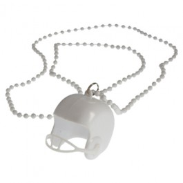 White Bead Necklaces With Football Helmets