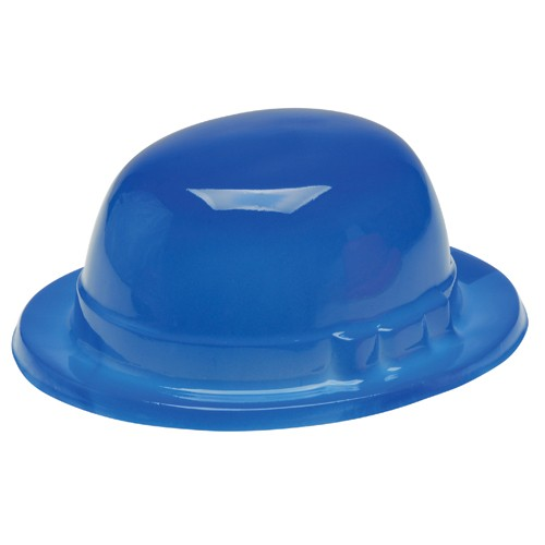 Blue Bowler Derby Hats - 12ct