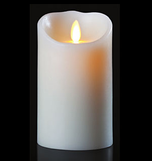 3.5x7 Inch Luminara Candle with Timer - White