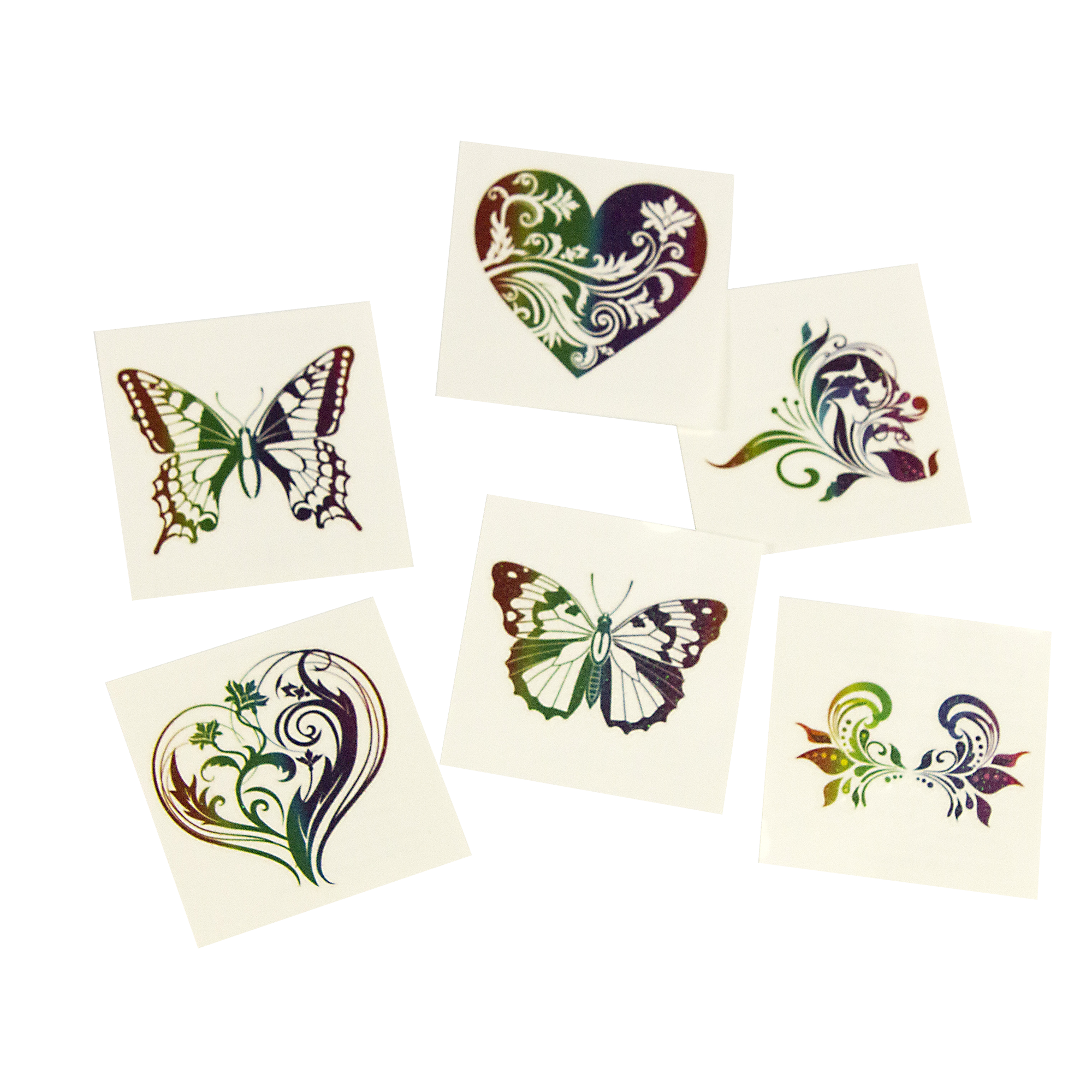 Rainbow Glitter Temporary Tattoos -72ct