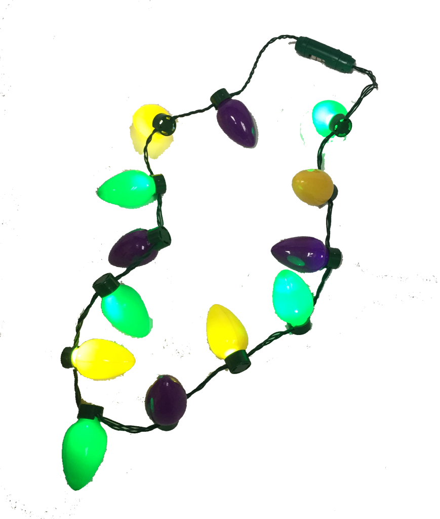 LED Mardi Gras Necklace 13 Bulbs