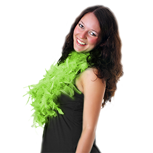 Fun Central AU144 Feather BOA - 6ft Lime Green - 60g