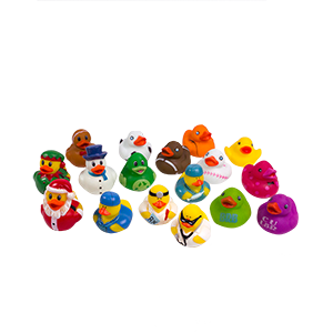 Rubber Ducks Toy Assorted - 50 ct