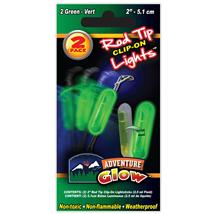 "2PK 2"" GREEN ROD CLIP ON LIGHT"