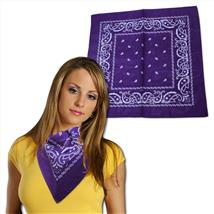 22 INCH X 22 INCH DARK PURPLE BANDANA