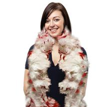 RED AND WHITE FEATHER BOA
