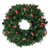 HOLIDAY TINSEL WREATH DECORATION