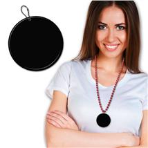 63.5MM BLACK PLASTIC MEDALLION