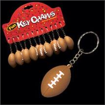 PLASTIC FOOTBALL KEYCHAIN