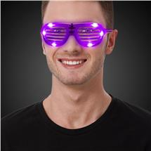 PURPLE L.E.D. SLOTTED GLASSES