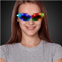 GREENBLUERED LED EYEGLASSES