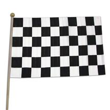 12 X 18 INCH CLOTH CHECKERED FLAG