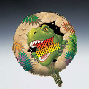 Dino Blast Metallic Balloon