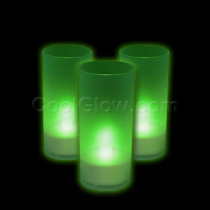 LED Pillar Candle - Green