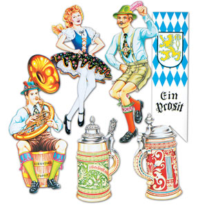 Oktoberfest Cutouts 20in - 6ct
