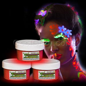 Glominex Glow Body Paint 2oz Jar - Red