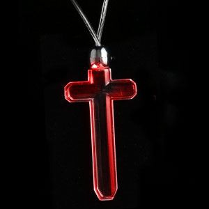 LED Pendant Necklace - Red Cross