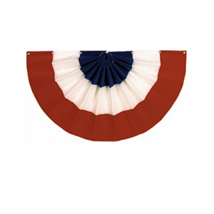 Velvet Patriotic Flag Bunting- 36in