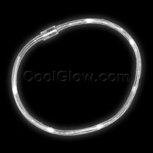 LED Light Chaser Necklace - White