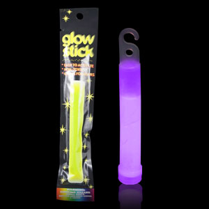 6 Inch Retail Packaged Glow Stick - Purple
