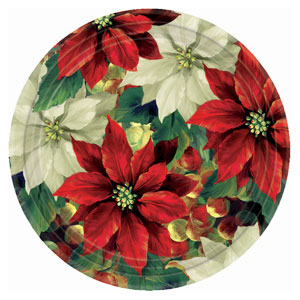 Regal Poinsettia 10 Inch Plates