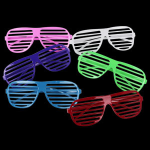 Shutter Slotted Shade Eye Glasses - Assorted
