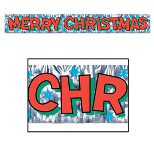Merry Christmas Fringe Banner - 5ft
