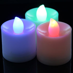 Fun Central I527 LED Light Up Tea Light Candles Multicolor