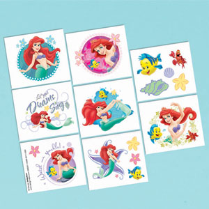 Disney Little Mermaid Tattoo Favors- 16ct