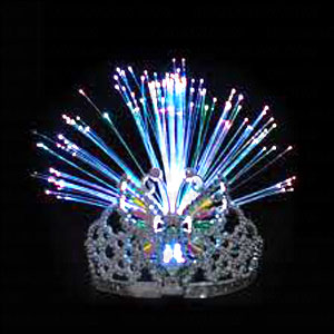 Fun Central G261 LED Light Up Fiber Optic Tiara