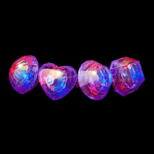 LED Jumbo Gem Rings - Purple