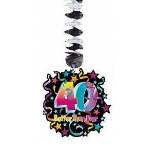 Birthday Pizzazz 40 Dangling Cutouts- 3ct