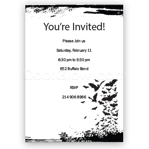Bats - Custom Invitations