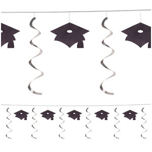 Grad Caps Dangler Garland